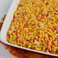 Spicy Creamy Baked Corn - Andrea Meyers