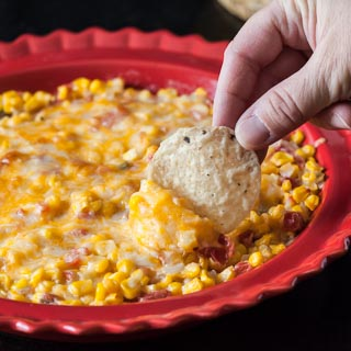 Spicy Creamy Baked Corn