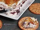 Creamy Cheese Torta with Prosciutto, Kalamata Olives, and Fig Jam