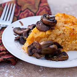 Andrea Meyers - Roasted Butternut Squash Polenta with Smoked Gouda and Sauteed Mushrooms