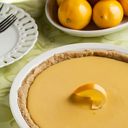 Meyer Lemon Pie with Shortbread Crust