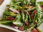 Andrea Meyers - Baby Chard Salad with Asparagus, Sun-Dried Tomatoes, and Hot Bacon Vinaigrette