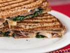 Andrea Meyers - Panini with Prosciutto, Fontina, Spinach and Slow-Roasted Tomatoes
