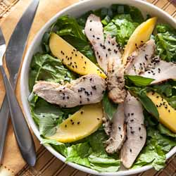 Thai Grilled Chicken Salad with Mango