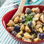Baked Potato Salad Recipe with Vidalia Onion Vinaigrette - Andrea Meyers