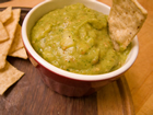 Andrea Meyers - Roasted Tomatillo Jalapeno Salsa with Avocado
