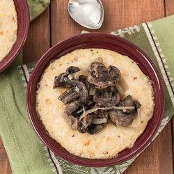Andrea Meyers - Creamy Polenta (Grits) with Sauteed Mushrooms and Onions