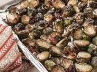 Andrea Meyers - Roasted Brussels Sprouts with Bacon and Parmesan Cheese