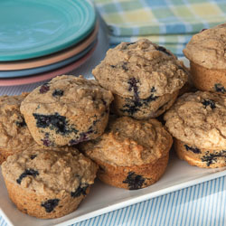 Blueberry Muffins with Lemon and Yogurt Recipe - Andrea Meyers