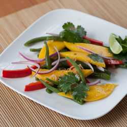 Green Bean Salad Recipe with Mango and Thai-Style Vinaigrette - Andrea Meyers