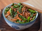 Asparagus Noodle Salad with Sesame Ginger Vinaigrette - Andrea Meyers