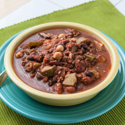 Meat and Summer Vegetable Chili Recipe (The Kids Cook Monday) - Andrea Meyers