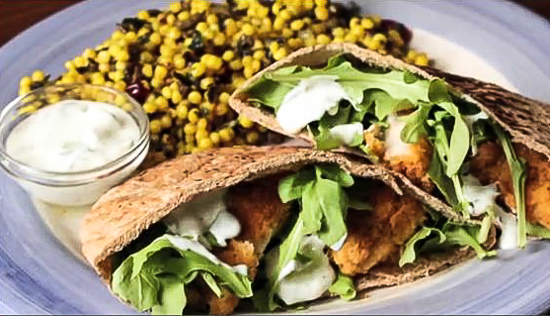 Greek Chicken Pita Sandwich - Andrea Meyers