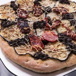 Eggplant and Sun-Dried Tomato Pizza