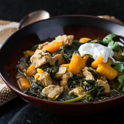 Sweet Potato, Chicken, and Spinach Curry with Quinoa