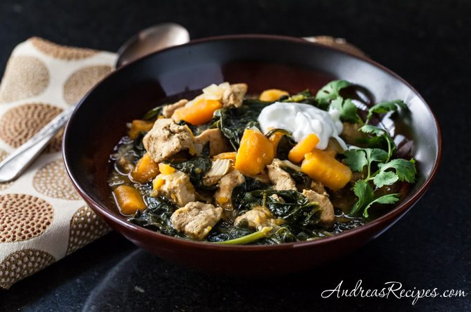 Sweet Potato, Chicken, and Spinach Curry with Quinoa - Andrea Meyers
