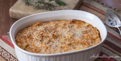 Butternut Squash and Parmesan Bread Pudding Recipe (The Kids Cook Monday) - Andrea Meyers