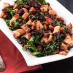 Warm Kale Salad Recipe with Dried Cranberries and Apples - Andrea Meyers