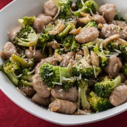 Browned Butter Gnocchi with Broccoli and Almonds