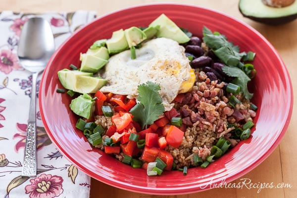Quinoa and Egg Breakfast Bowl Recipe - Andrea Meyers