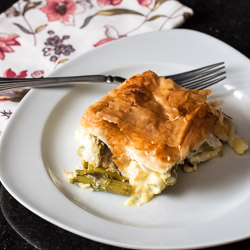 Asparagus and Leek Pie Recipe - Andrea Meyers