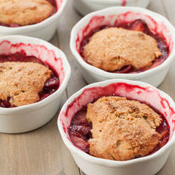 Plum Cobbler Recipe with Whole Grain Biscuits - Andrea Meyers