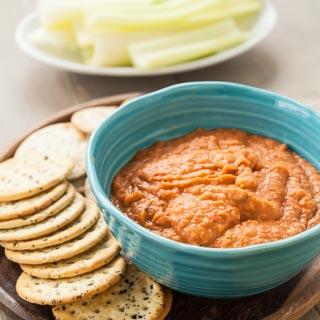 Roasted Red Pepper Cannellini Bean Dip