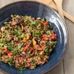 Grilled Eggplant Salad Recipe with Lentils and Tomatoes - Andrea Meyers