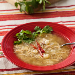 Chicken and Tomatillo Posole Recipe - Andrea Meyers