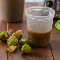 How to Make Tomatillo Puree - Andrea Meyers