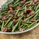 Sautéed Green Beans with Spice-Glazed Pecans - Andrea Meyers