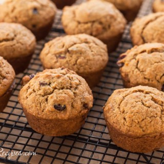 Sweet Potato and Cranberry Muffins with Maple Butter