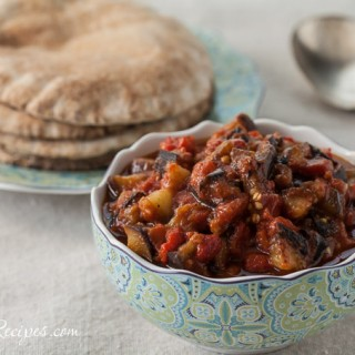 Middle Eastern Eggplant and Tomato Salad Recipe - Andrea Meyers