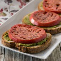 Tomato Toast with Guacamole - Andrea Meyers