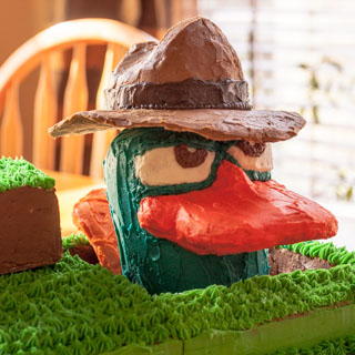Agent P, aka Perry the Platypus Birthday Cake