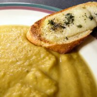 Roasted Winter Squash Soup with Croutons - Andrea Meyers