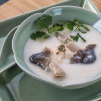Thai Chicken Coconut Soup (Tom Kah Gai) - Andrea Meyers