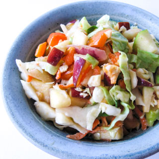 Coleslaw with Yogurt, Apple, and Peppers