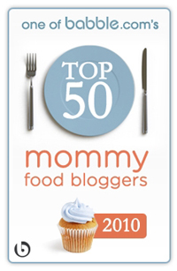 Babble.com Top 50 Mommy Food Bloggers logo