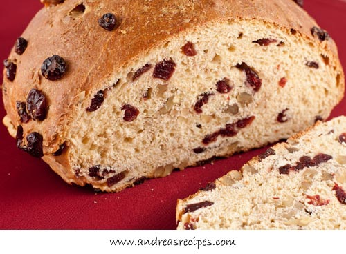 Andrea Meyers - Cranberry Walnut Celebration Bread