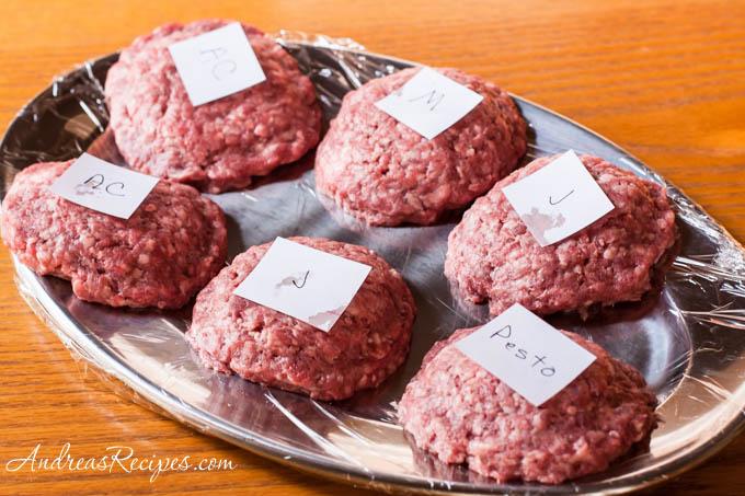 Andrea Meyers - Prepped stuffed burgers