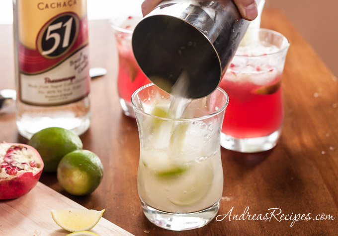 Muddling for a caipirinha cocktail - Andrea Meyers