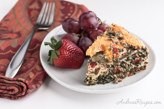 Andrea Meyers - Egg White Breakfast Casserole with Sausage, Spinach, and Tomatoes