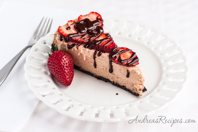 Strawberry Chocolate Cheesecake - Andrea Meyers