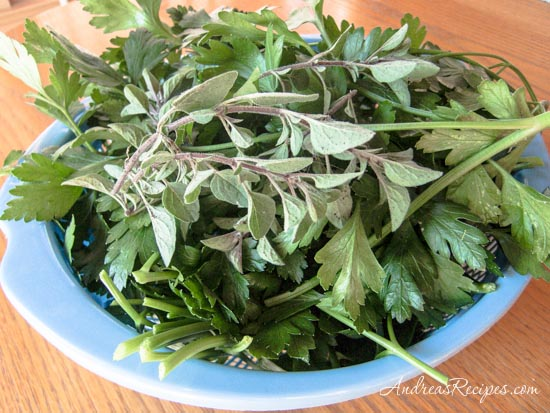 Andrea Meyers - Herbs for chimichurri