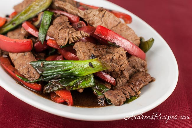 Chinese Beef and Bell Pepper with Black Bean Sauce - Andrea Meyers