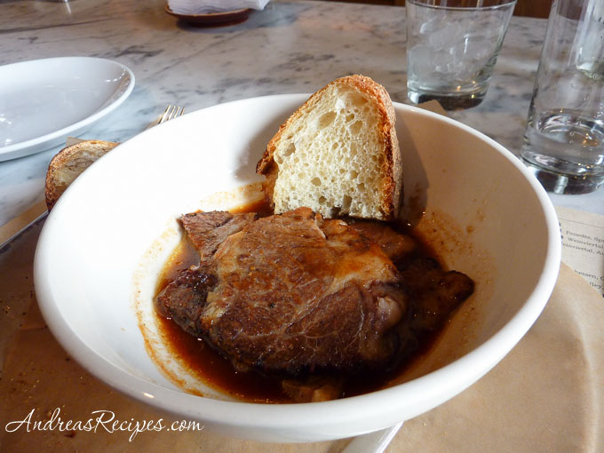 Andrea Meyers - Beef appetizer at Co., New York City