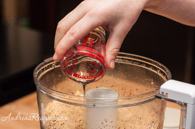 Andrea Meyers - Homemade Peanut butter, add the peanut oil