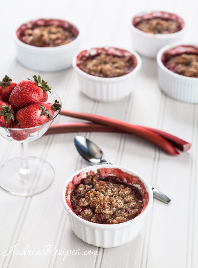 Andrea Meyers - Strawberry Rhubarb Almond Crumble