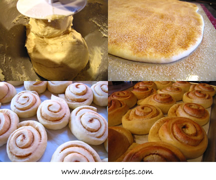 Daring Bakers Cinnamon Buns collage